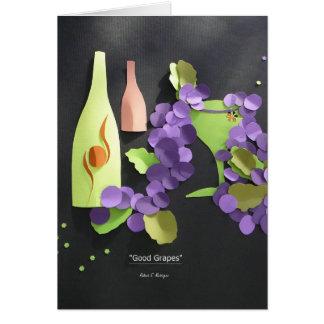 """""""Good Grapes"""" Card"""