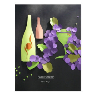 """Good Grapes"" Postcard"