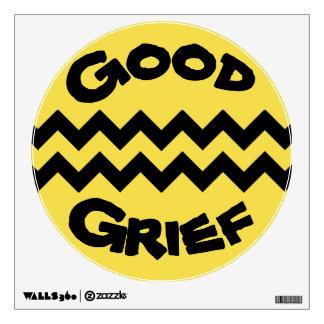 Good Grief Yellow Black Chevron Wall Decal