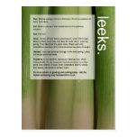 Good Growing Guide: Leeks and Aubergines Post Card