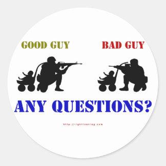 Good Guy - Bad Guy Classic Round Sticker