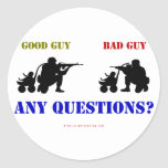 Good Guy - Bad Guy Round Sticker