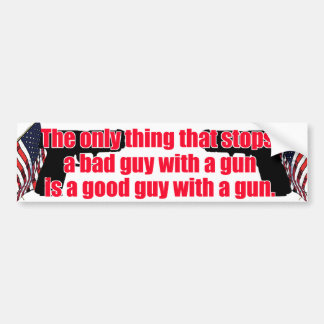 Good guy gun bumper sticker