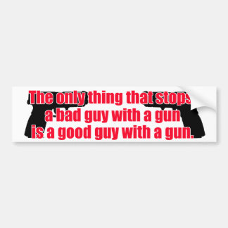 Good guy gun car bumper sticker