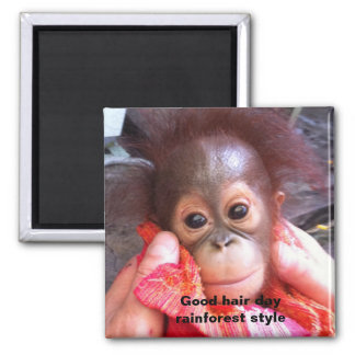 Good Hair Day for Baby 2 Inch Square Magnet