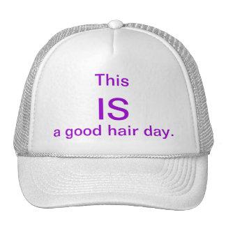 good hair day trucker hat