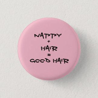 Good Hair Pinback Button