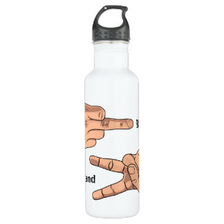 Good Hand Bad Hand BPA FREE 24oz Water Bottle