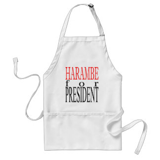 good harambe election president vote guardian gori adult apron