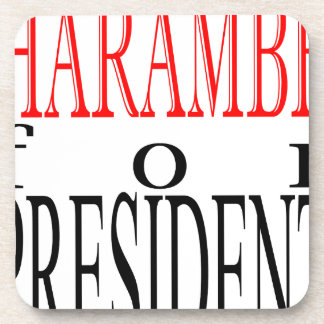 good harambe election president vote guardian gori drink coaster
