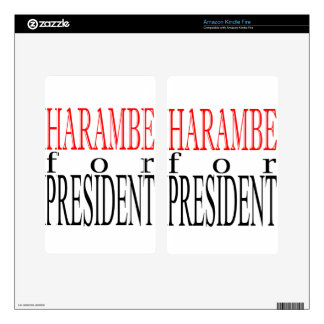 good harambe election president vote guardian gori kindle fire skin