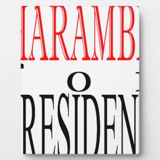 good harambe election president vote guardian gori plaque