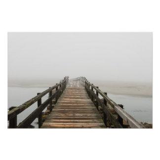 Good Harbor Beach Footbridge in the Fog Photo Print