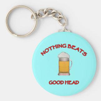 Good Head Basic Round Button Keychain