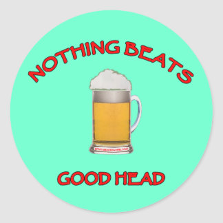 Good Head Classic Round Sticker