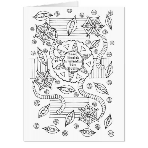 Good Health Coloring Get Well Card