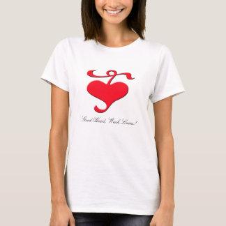 Good Heart, Weak Knees! Ladies T-shirt