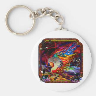 Good Hunting Abstract Background Keychain