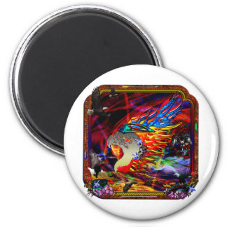 Good Hunting Abstract Background 2 Inch Round Magnet