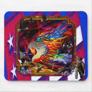Good Hunting Abstract Background Mouse Pads
