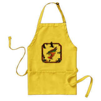 Good Hunting Eagle Arrows and Flowers Frame Adult Apron