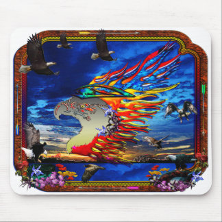 Good Hunting Eagle Collage Mouse Pads