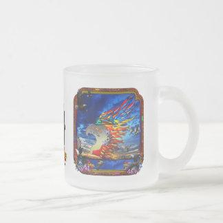 Good Hunting Eagle Sky background clear edge 10 Oz Frosted Glass Coffee Mug