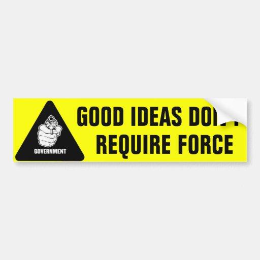 ideas don t require car bumper sticker zazzle