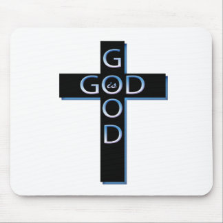 Good is Good Blue and Black Mouse Pad
