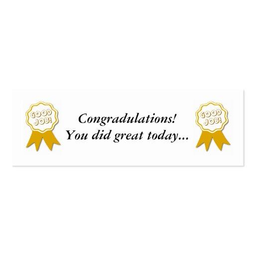Good Job! Award Bookmarker Mini Business Card