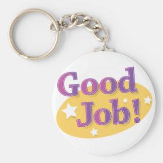 Good Job! Basic Round Button Keychain