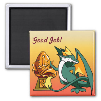 """Good Job"" Dragon with Trophy Magnet"
