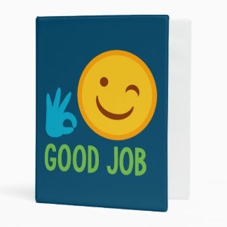 Good Job Emoji Mini Binder
