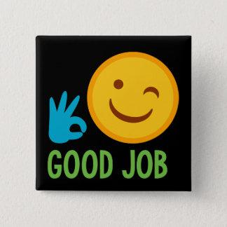 Good Job Emoji Pinback Button