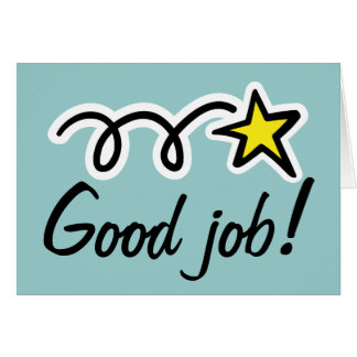 Good job greeting card for employee encouragement