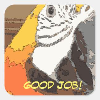 Good Job! Parrot sticker for teachers