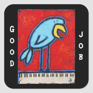 good job piano student stickers with bluebird