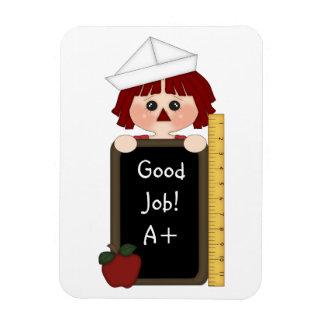 Good Job!-Rag Doll with Chalkboard Magnet
