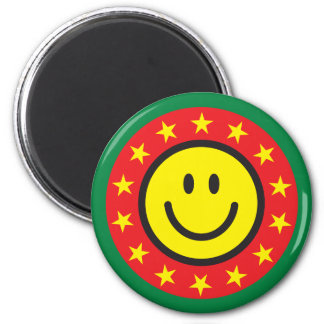 Good job smiley 2 inch round magnet