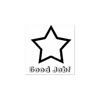 Good Job Star Rubber Stamp