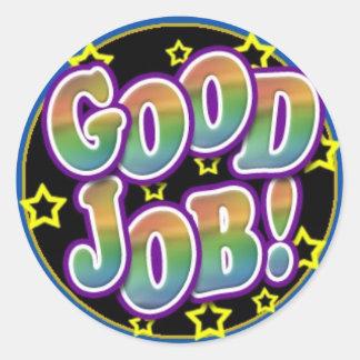 Good Job Round Sticker