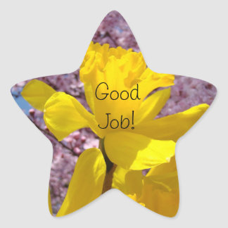 Good Job! stickers Yellow Daffodil Spring School