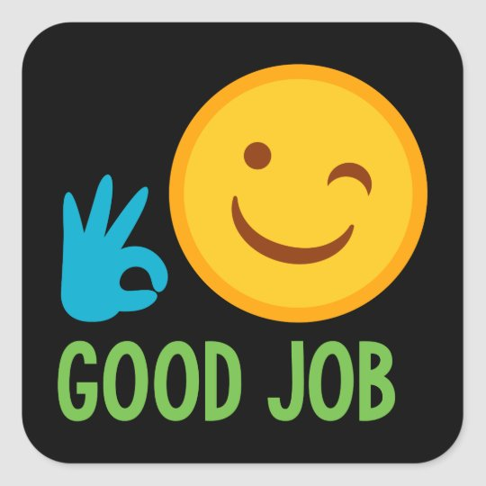 good job well done face sticker zazzle com