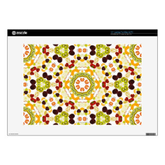 """Good karma and well being from a healthy diet 2 15"""" laptop skin"""