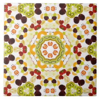 Good karma and well being from a healthy diet 2 ceramic tile