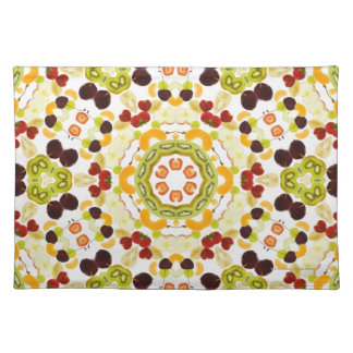 Good karma and well being from a healthy diet 2 cloth placemat
