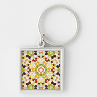 Good karma and well being from a healthy diet 2 keychain