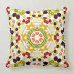 Good karma and well being from a healthy diet 2 throw pillow