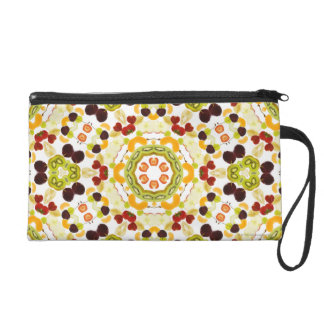 Good karma and well being from a healthy diet 2 wristlet purse