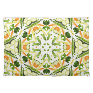Good karma and well being from a healthy diet 3 cloth placemat